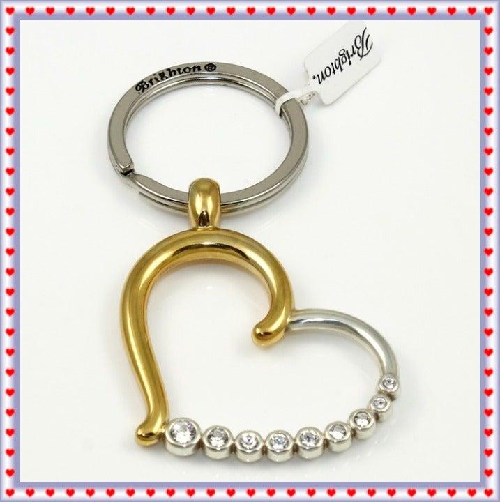 Brighton Sparkle Heart Key Fob NWT