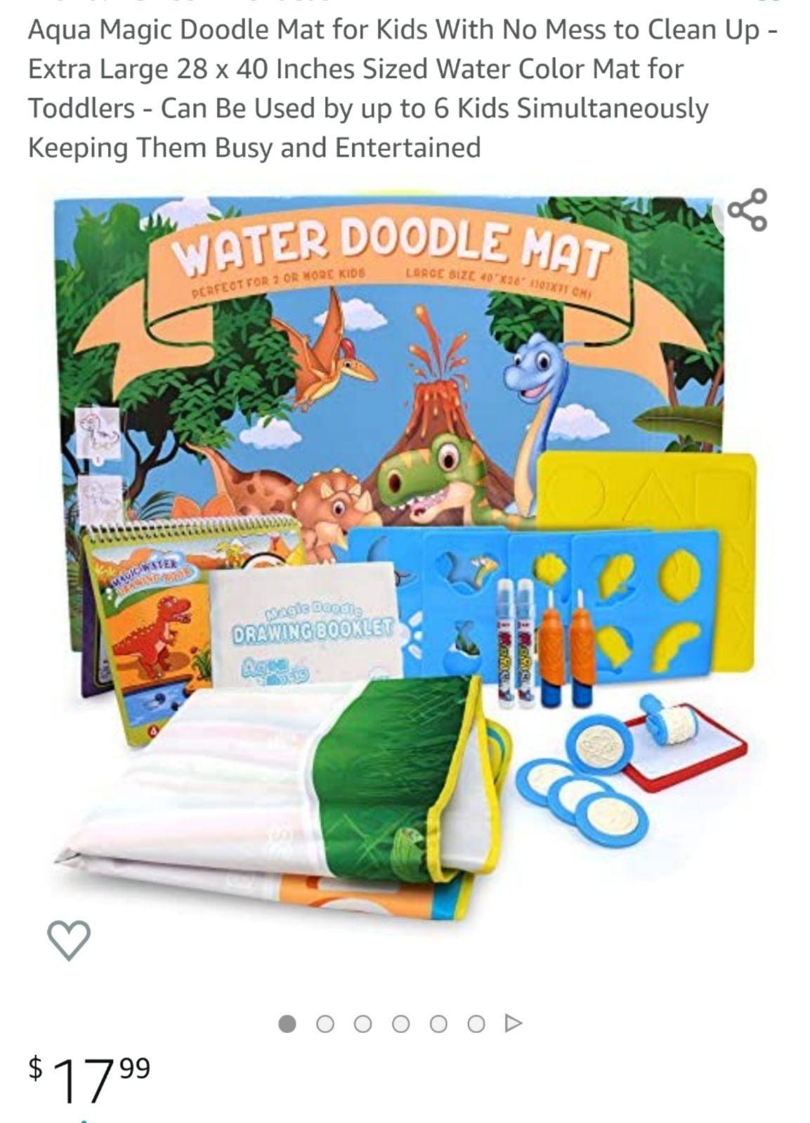 Water doodle mat Dinosaur theme
