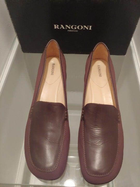 Brown Rangoni Designer Wedge Slip-Ons
