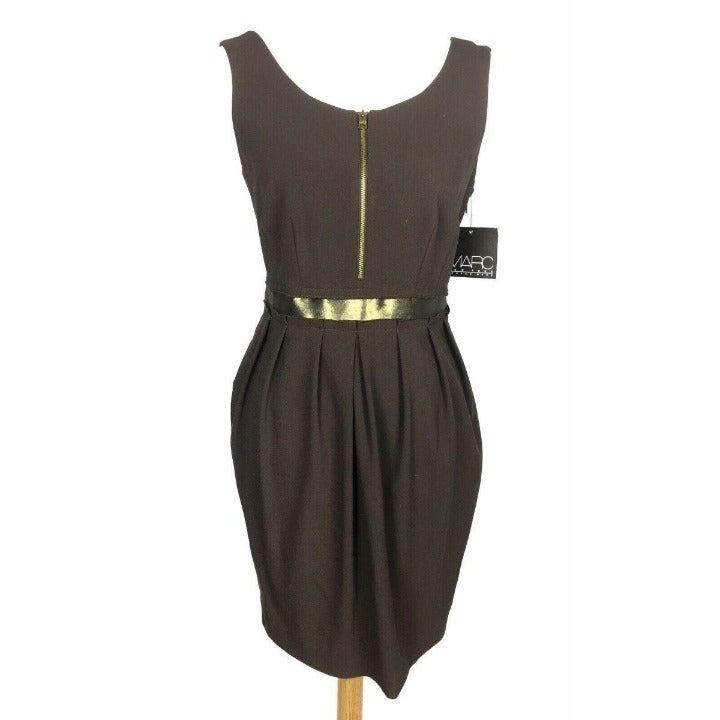 NWT Andrew Marc NY 6 Brown Sheath Dress