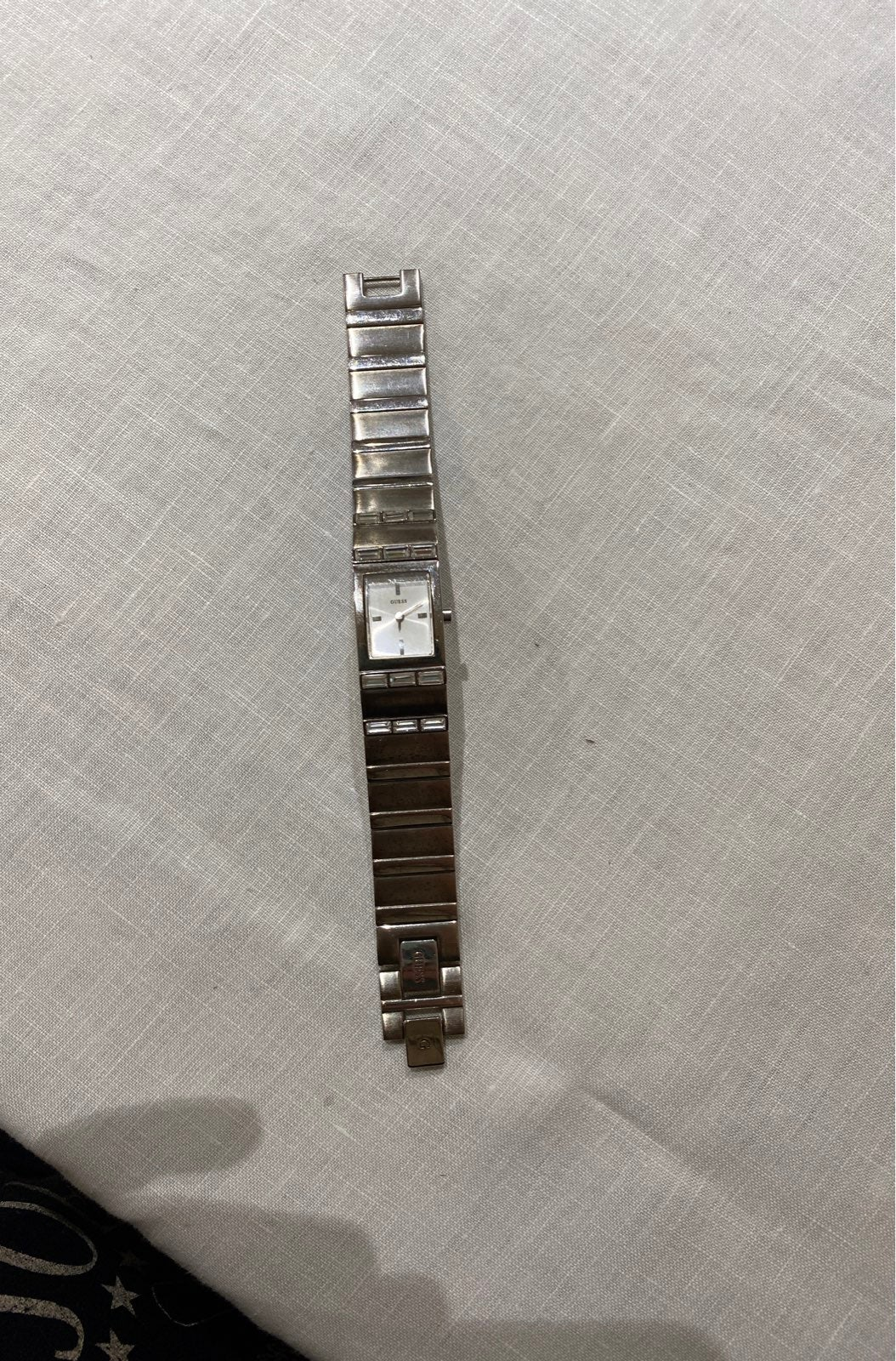 Guess silver tone ladies watch