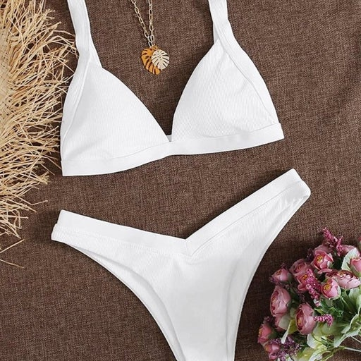 Triangle high cut swimsuit
