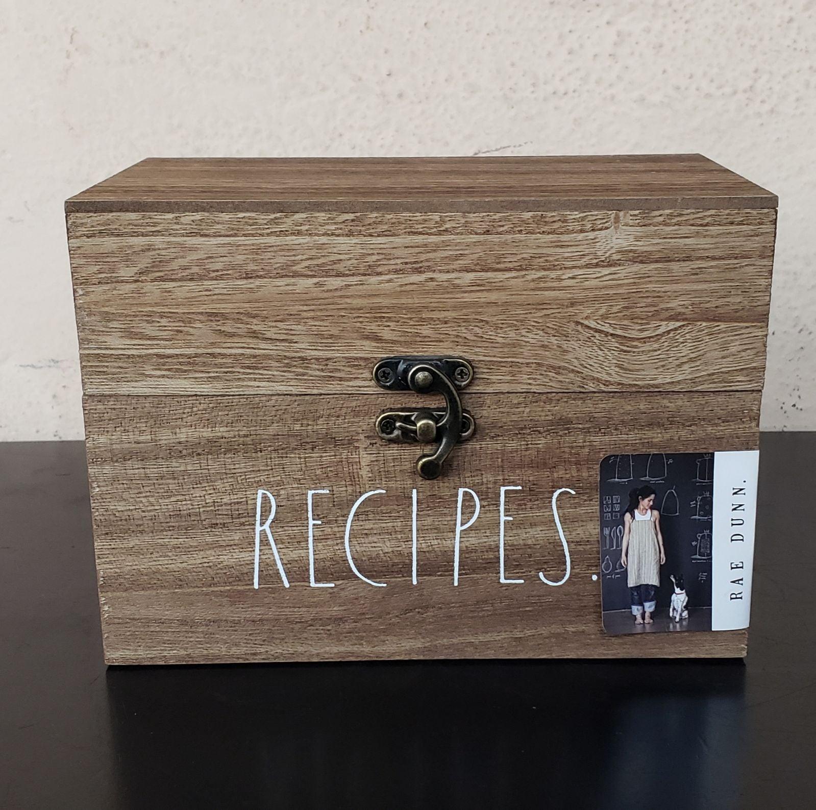 Rae Dunn Recipes Wooden Box Kitchen