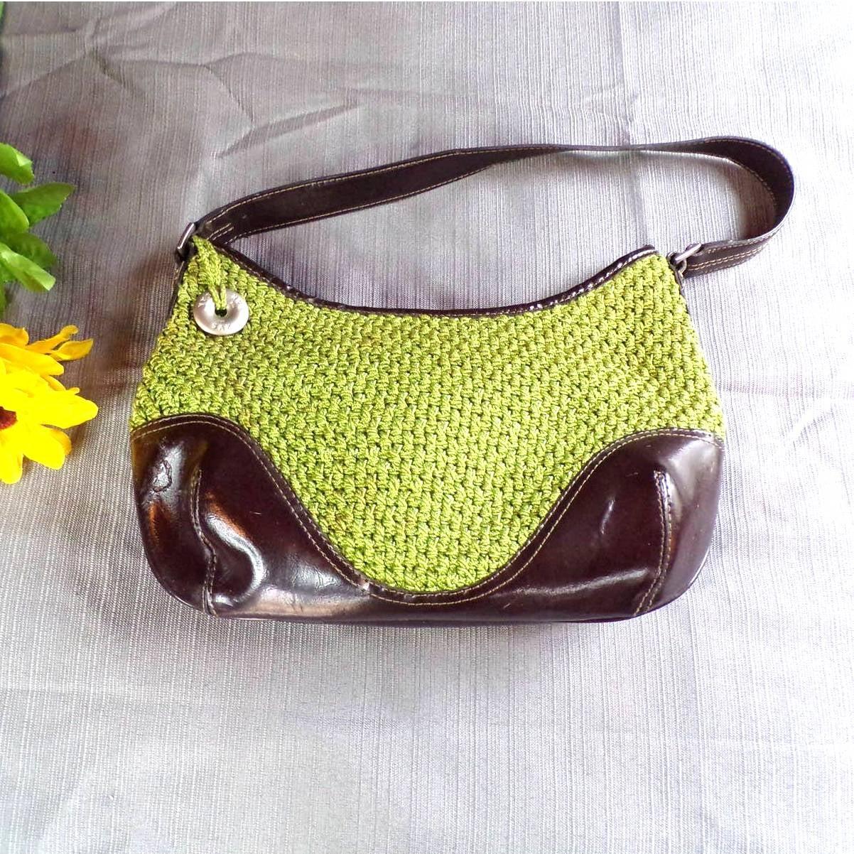 The Sak Handbag Knitted Fabric & Leather
