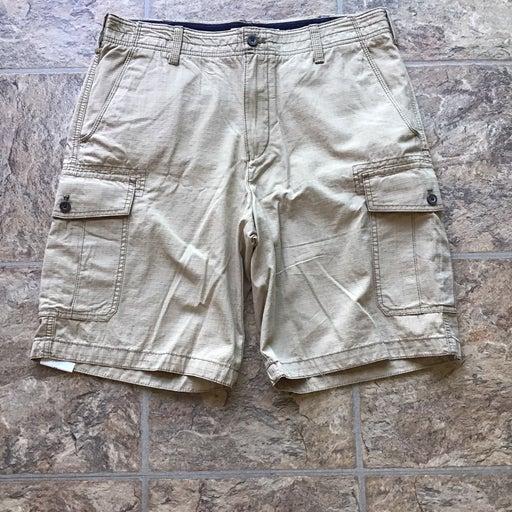 Tan Izod Cotton Shorts Waist 34