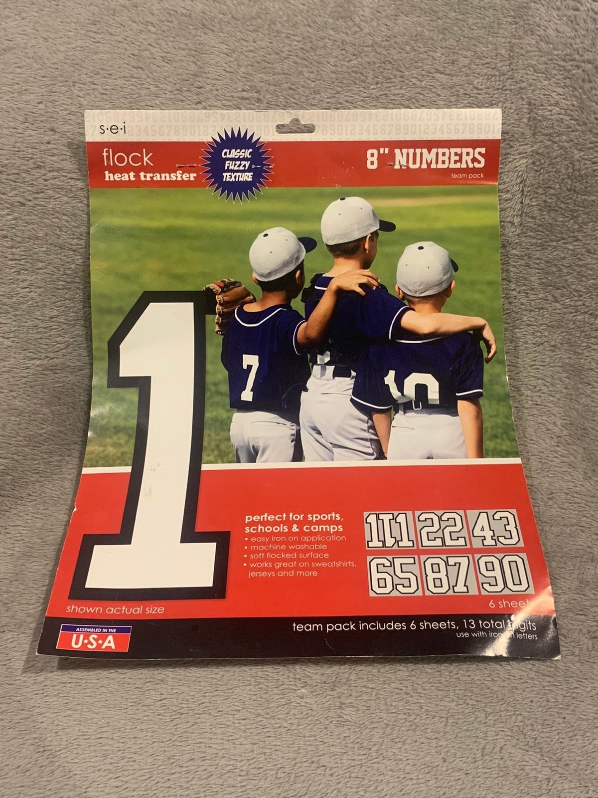 Heat Transfer Iron On Jersey Numbers