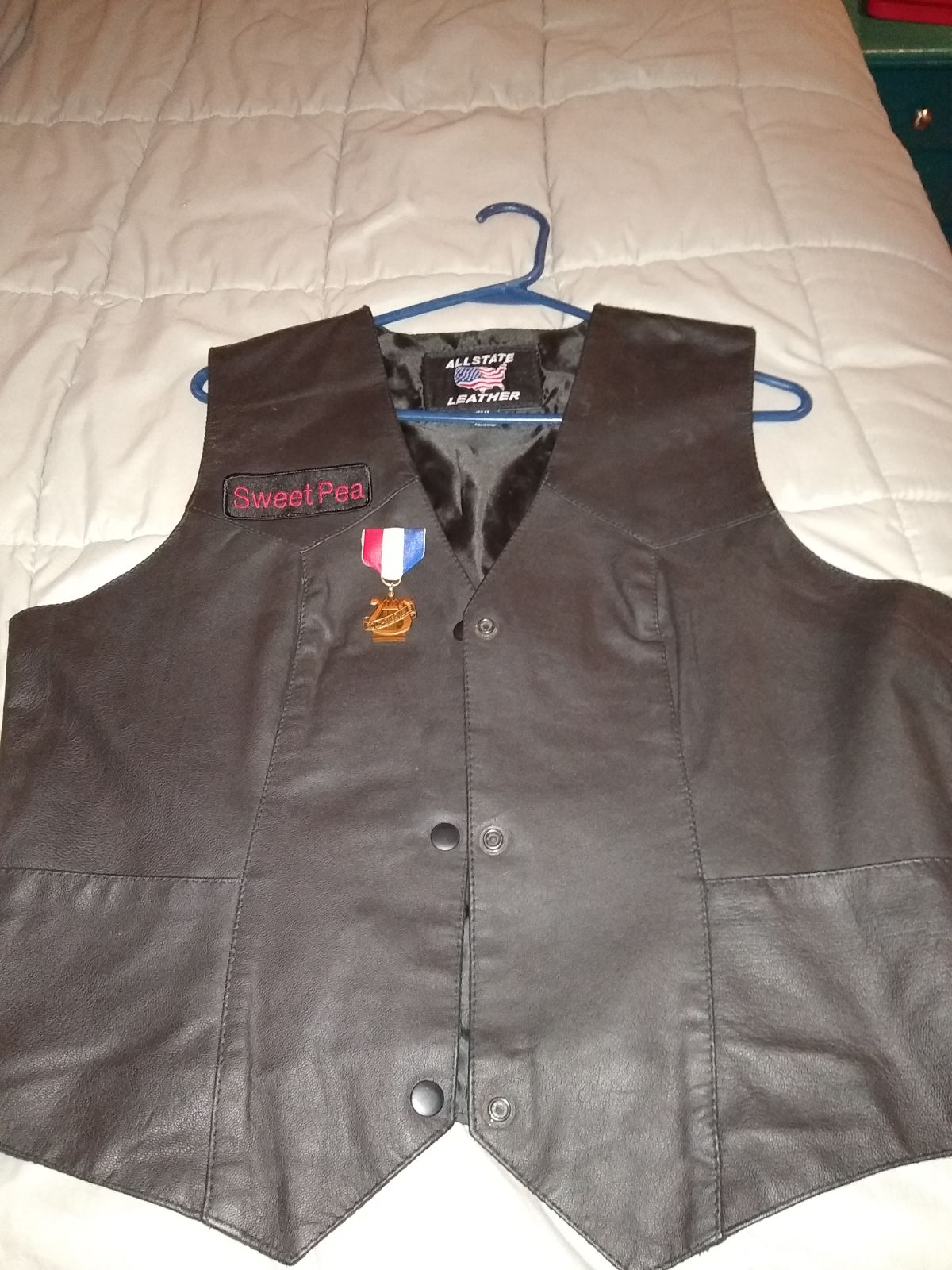 Women's leather vest