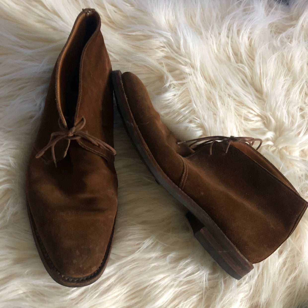 Peal & Co Suede Boots Sz 11D