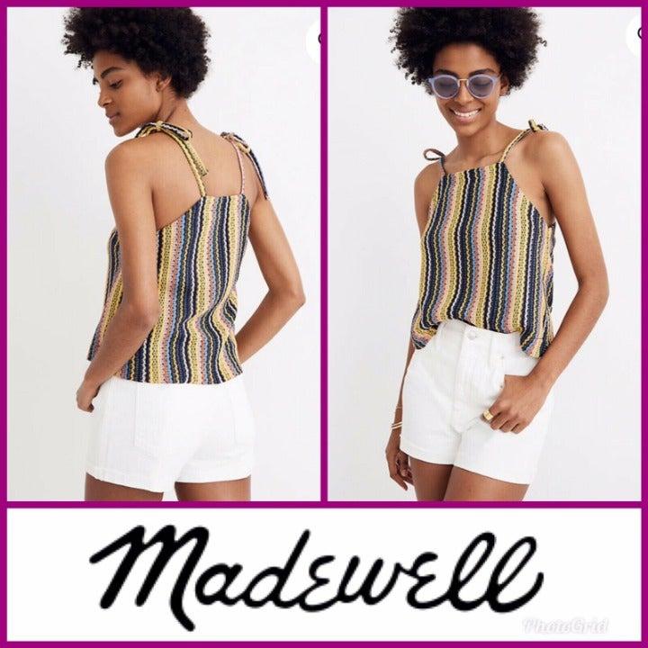 Madewell Tank Top Crochet Rainbow Pride
