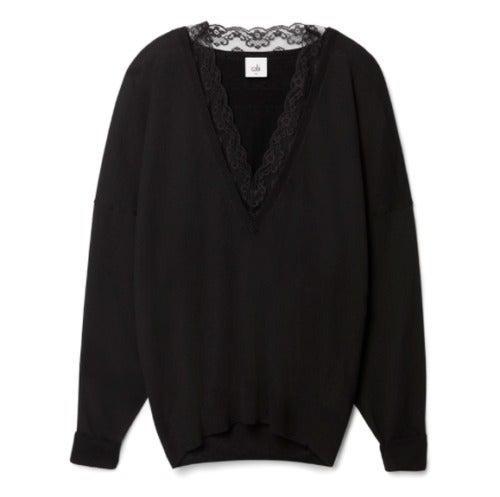 Cabi NWOT Black Sma. Union Sweater #5632