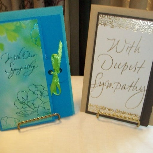 """2 Hand Made Sympathy Cards! 5"""" by 7"""""""