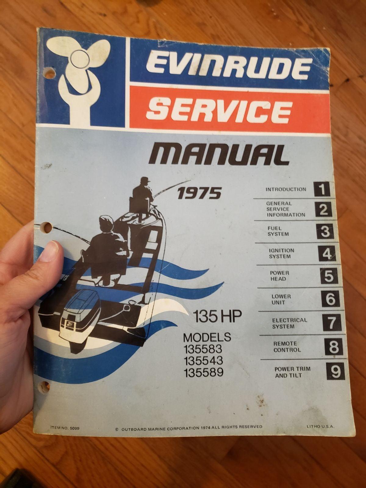 Evinrude Service Manual 1975