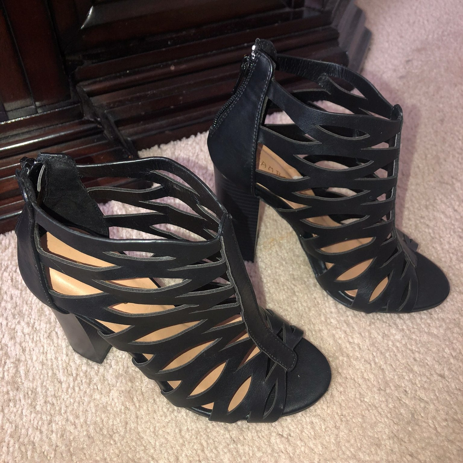 Bamboo black heels