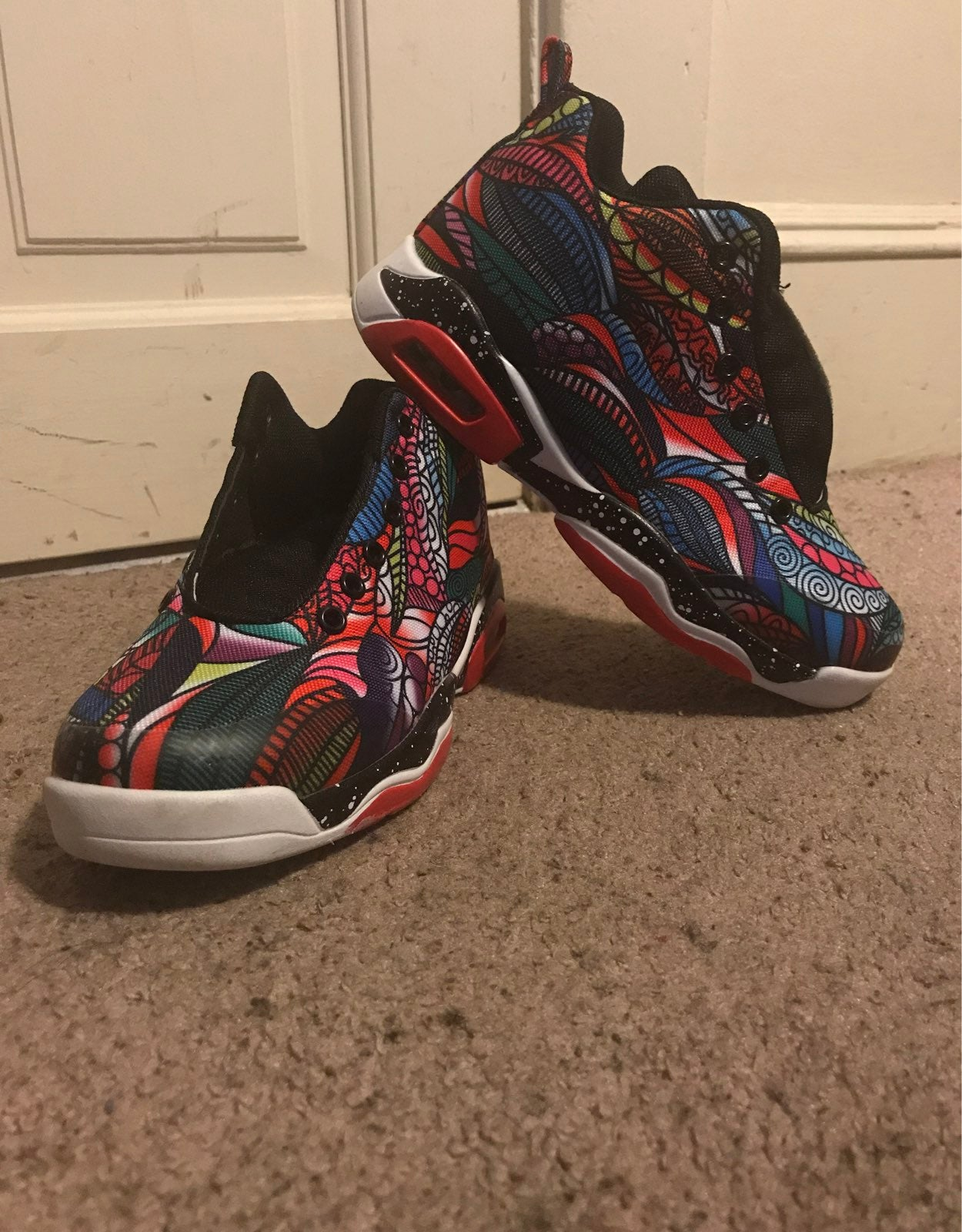 Colorful jordan shoe