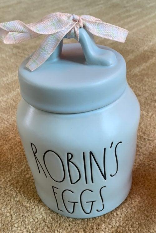 RAE DUNN ROBIN'S EGGS CANISTER