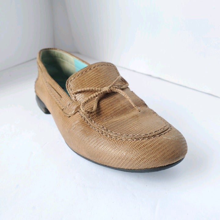 Thierry Robotin Tan Brown Leather Loafer