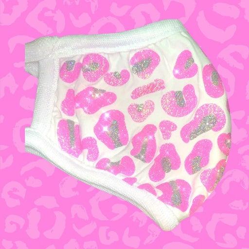 Pink Leopard Glitter Mask + 3 Filters!