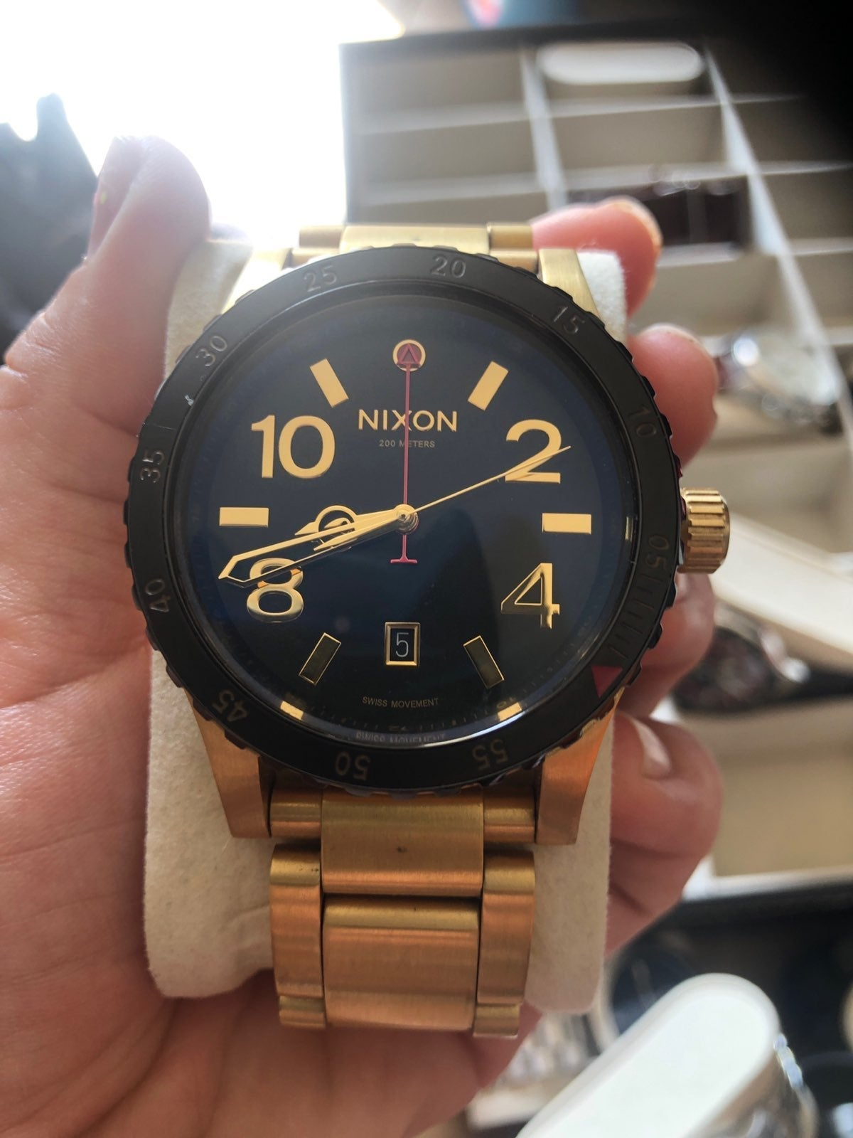 Nixon Men's 48-20 Geo luxury watch gold