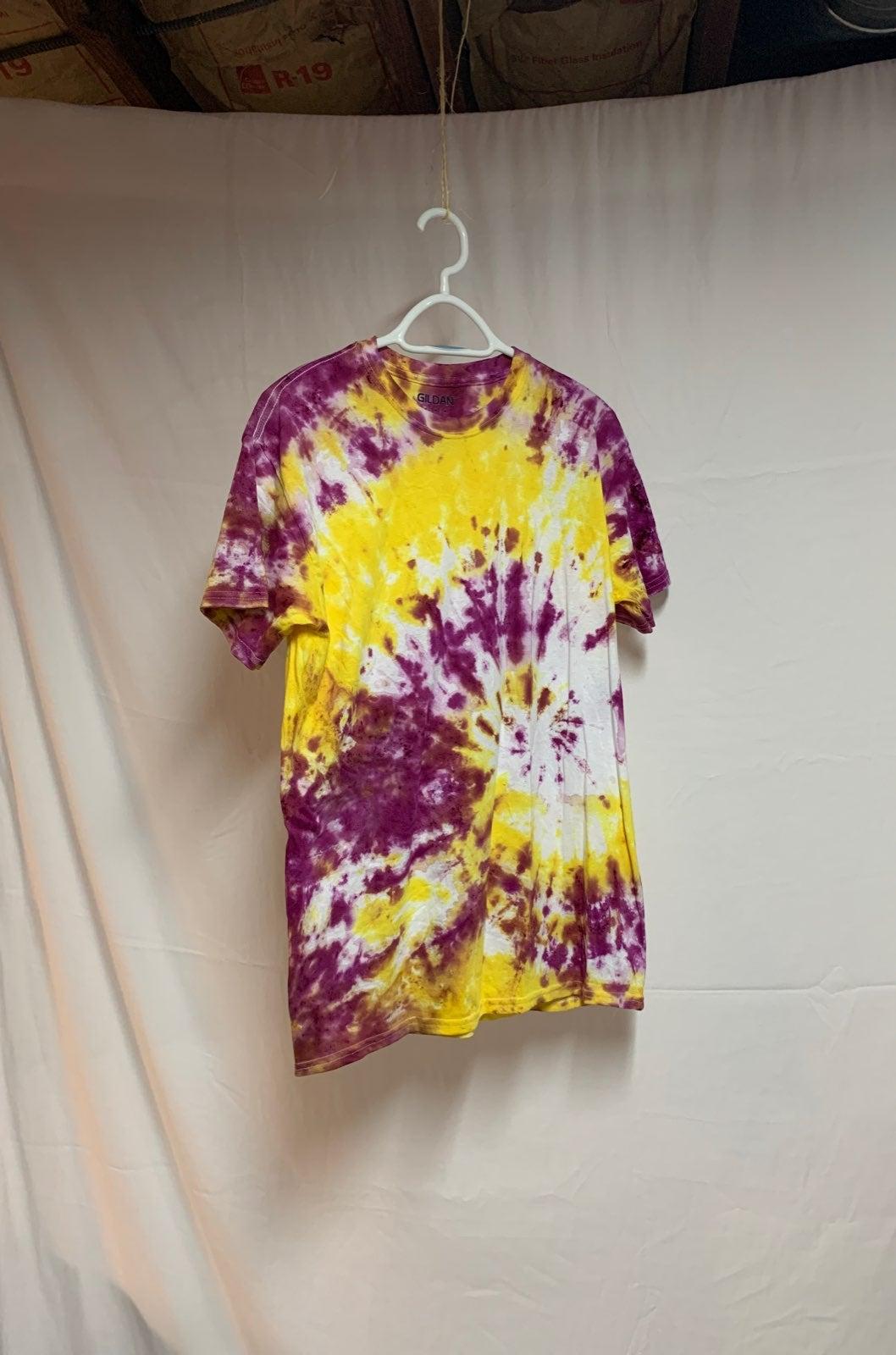 Purple and Yellow Tie Dye Shirt