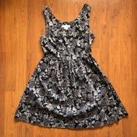 0304a3cdaeb Charlotte Russe Gray Floral Dress S