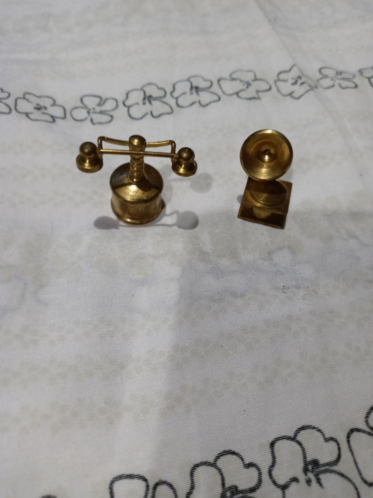 Vintage brass doll house pieces miniatur