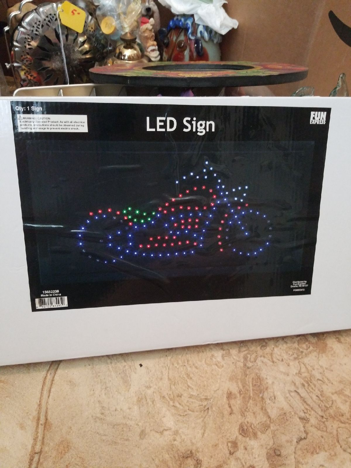 New in Box LED neon motorcycle