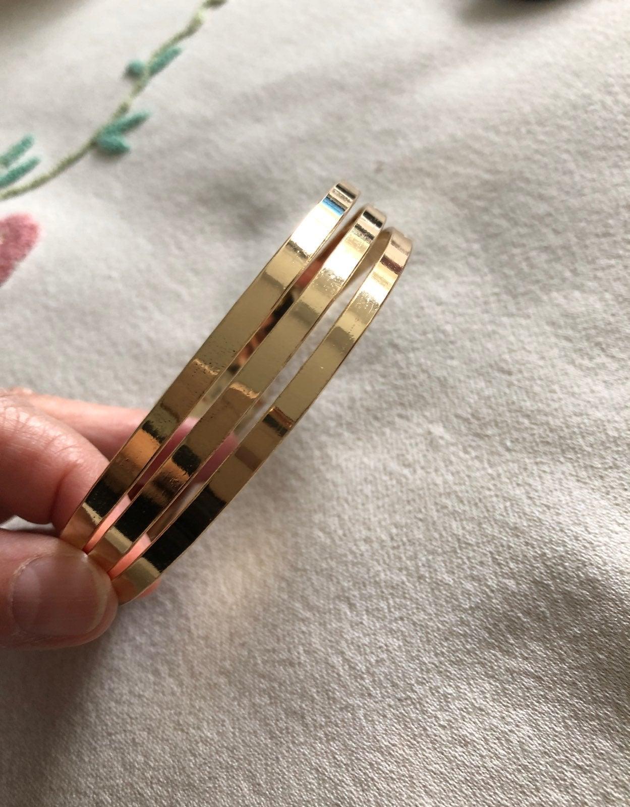 Arm bracelet gold 3 rings NEW