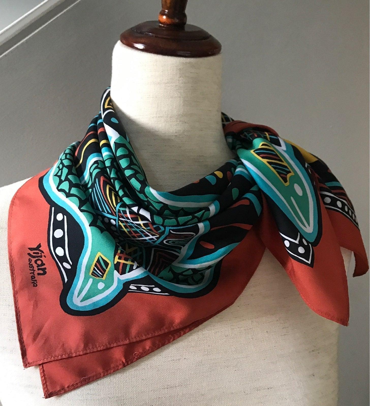 YAHAN AUSTRALIA Silk Scarf Aboriginal