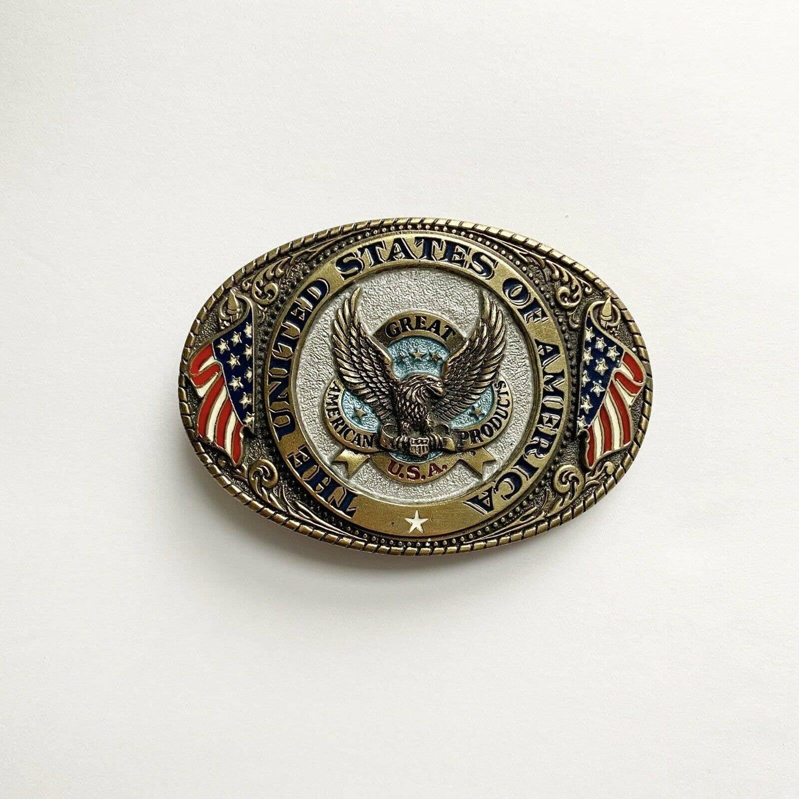 Vintage 1986 Authentic USA Belt Buckle
