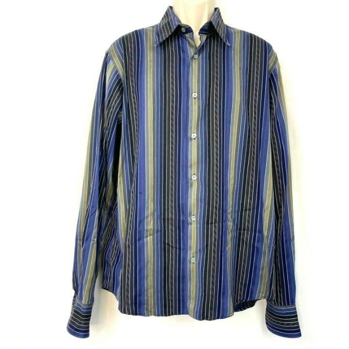 Ted Baker Striped Button Down Shirt S