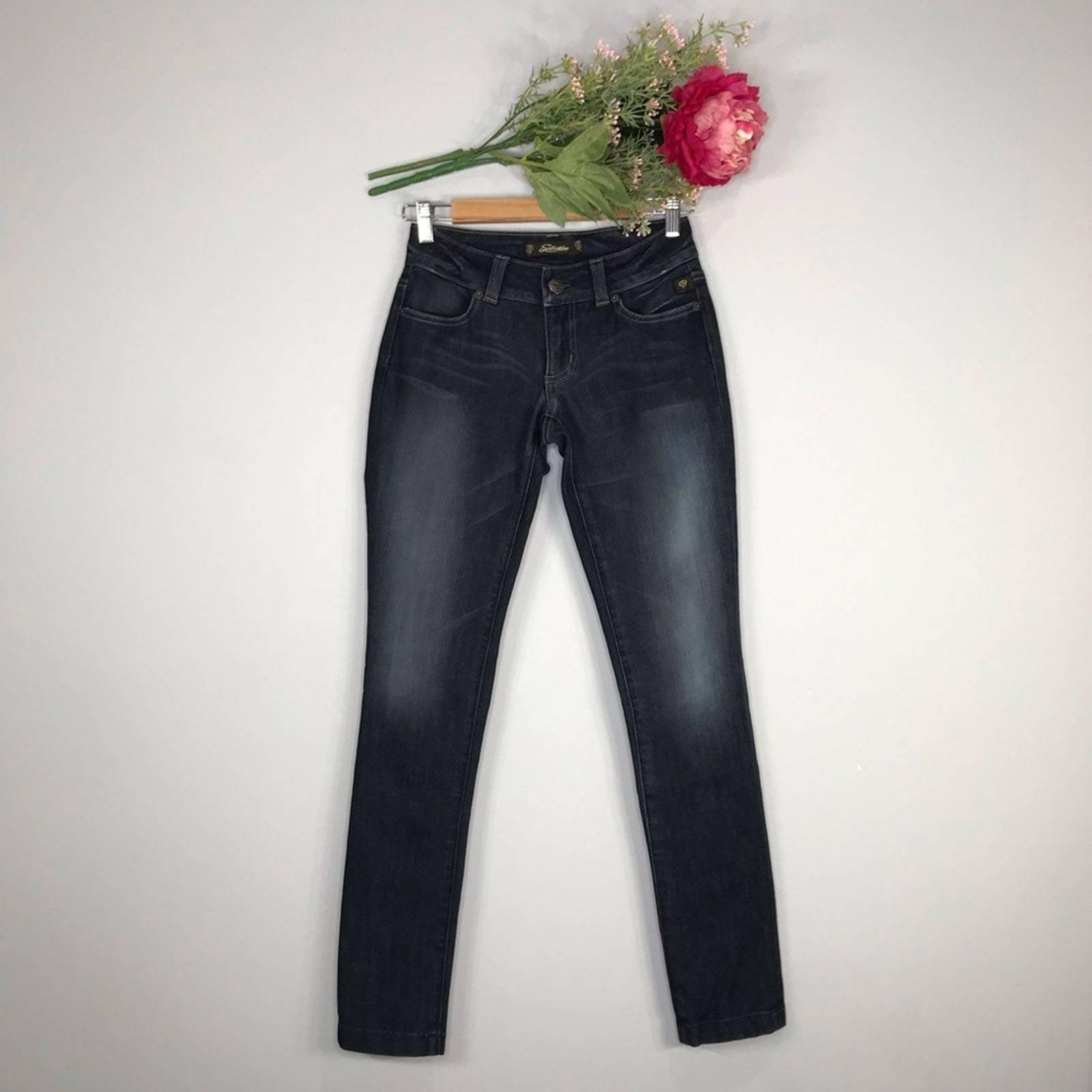 Serfontaine   Dark Low Rise Skinny Jean