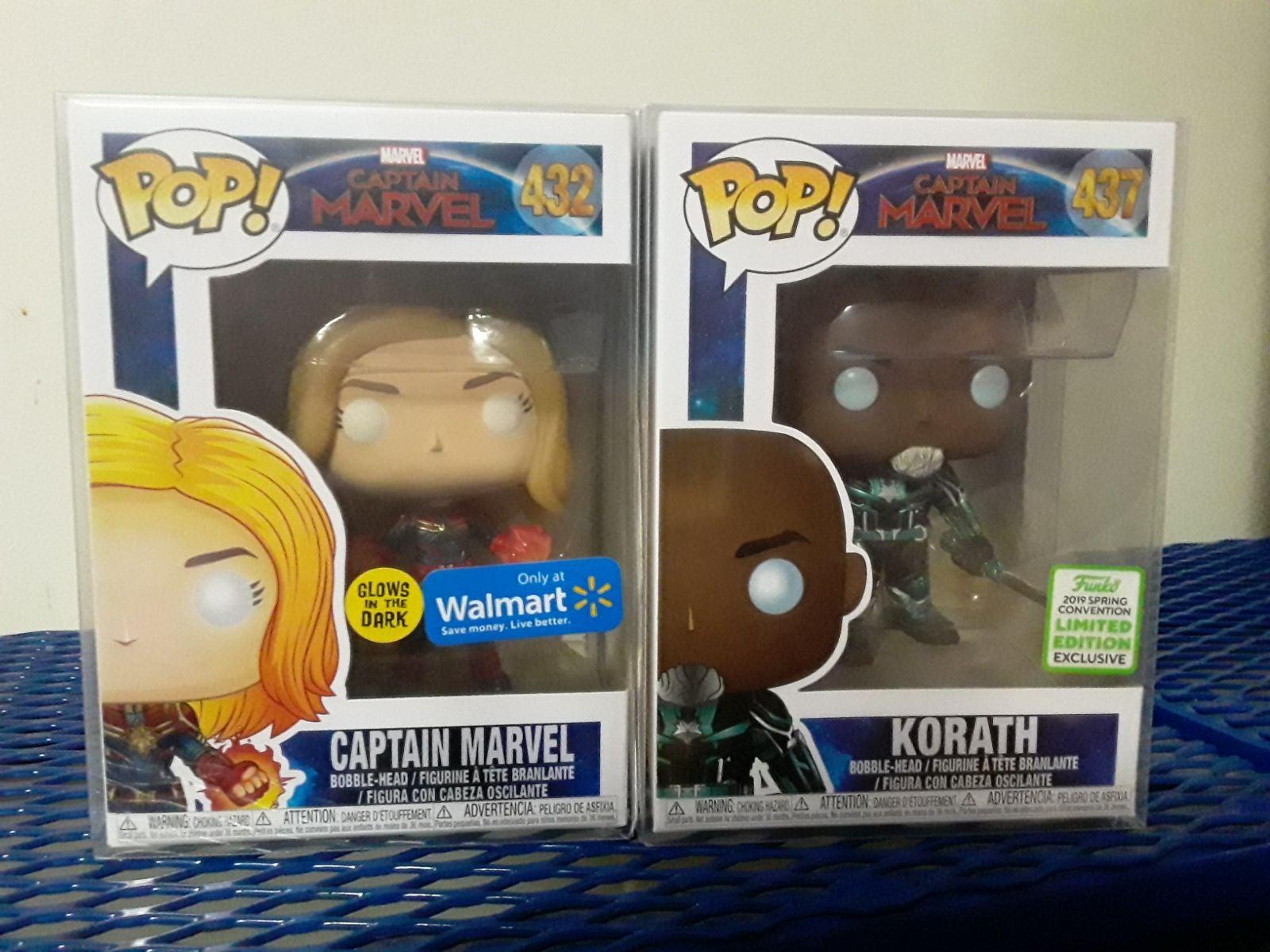 Captain Marvel Funko Pop bundle