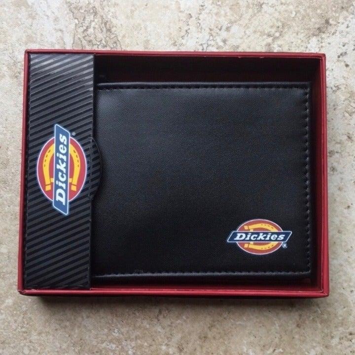 NWT Dickies Black Slim Fold Men's Wallet