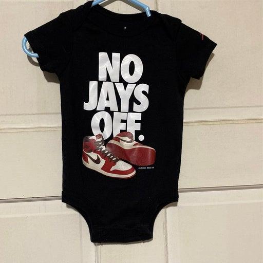 Air Jordan No Jays Off Baby Onesie 0-6mo