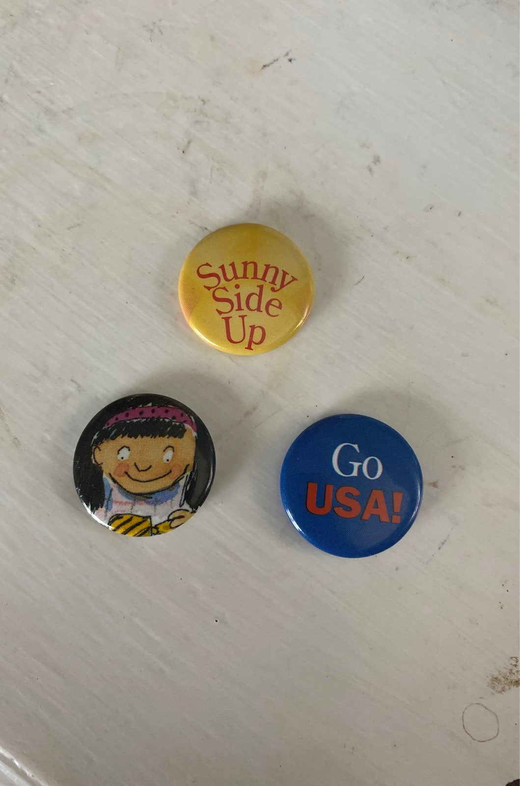 American Girl Grin Pins