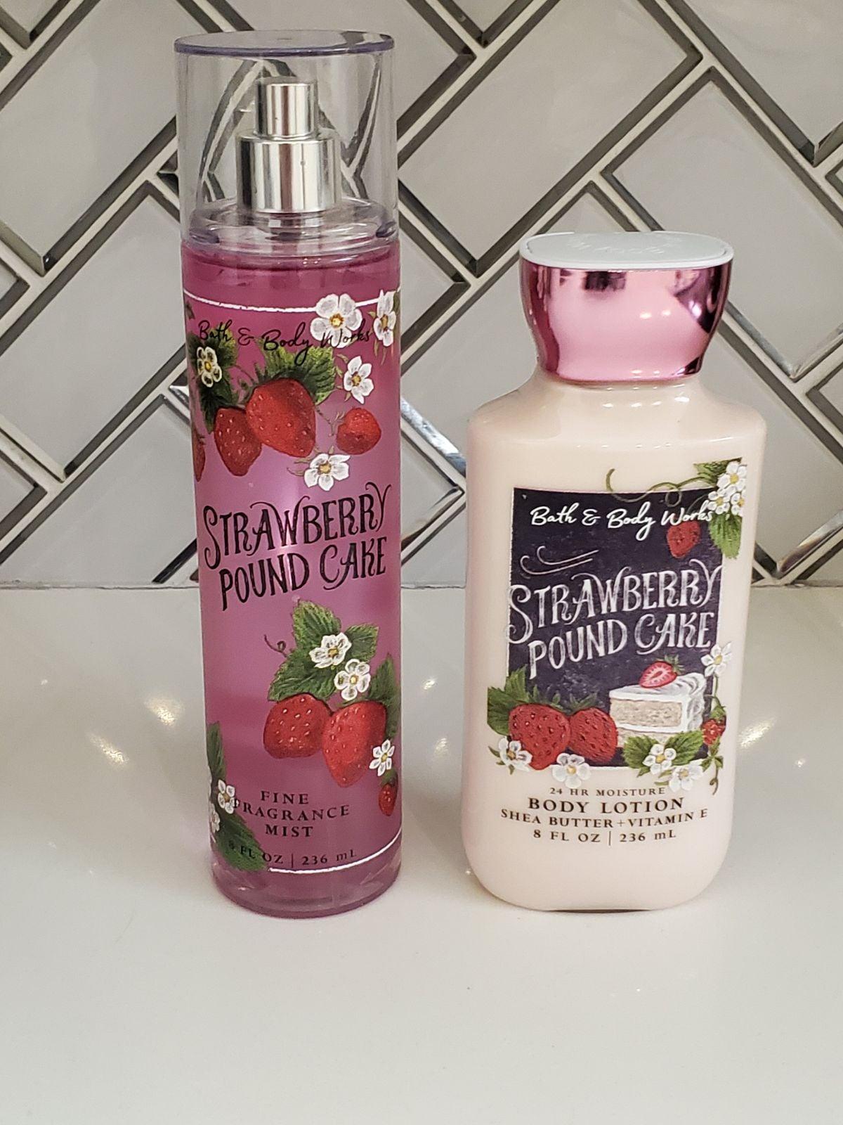 Bath and Body Works Strawberry Pound Cak