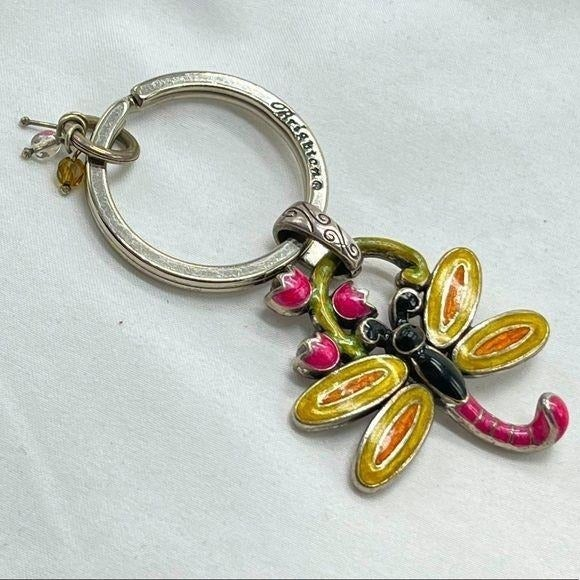 Brighton key ring with colorful dragonfl