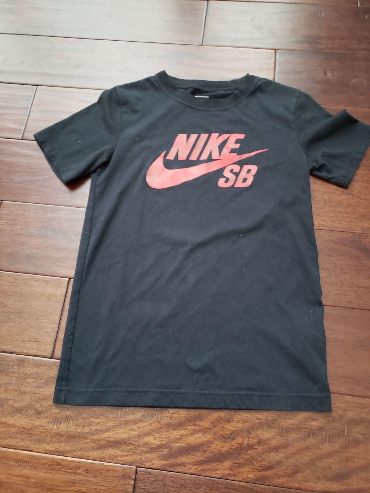 Boys Black & Red Nike Shirt