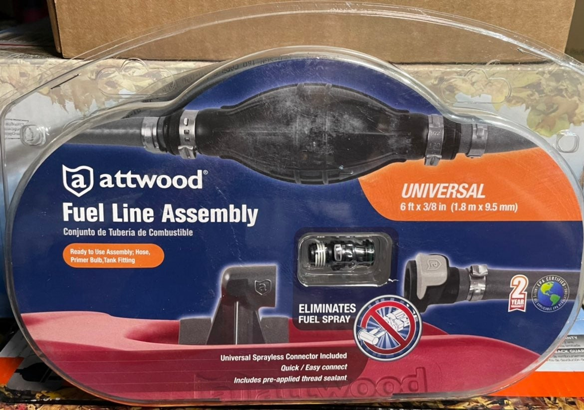 Attwood Universal Boat Fuel Line Kit wit