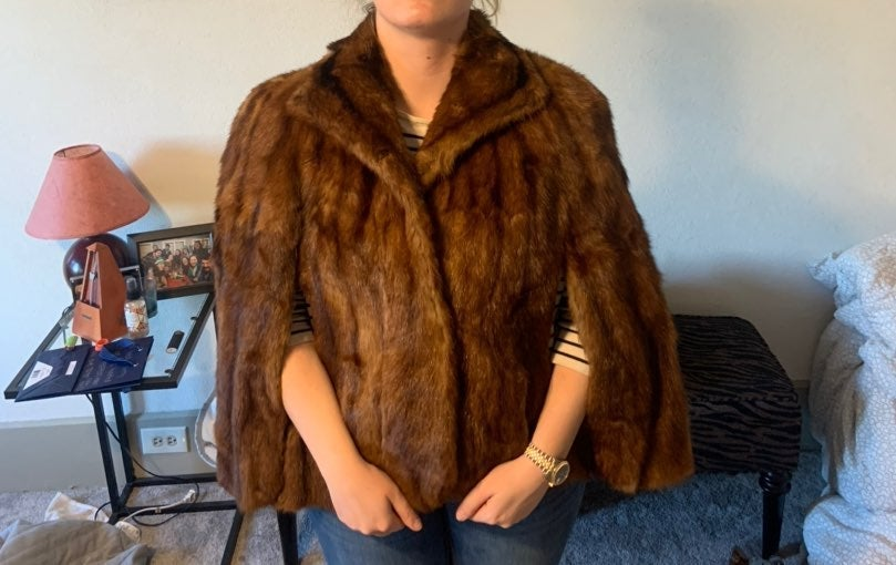 Vintage Sable mink fur coat / stole