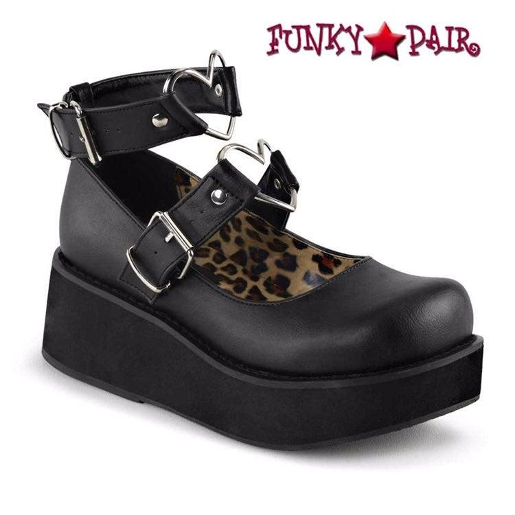 Demonia Faux Leather Flats | Mercari