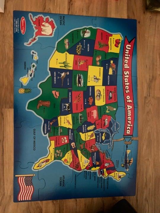 Puzzle - Melissa and Doug USA Map