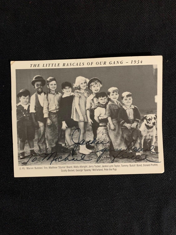 Signed Little Rascals Postcard