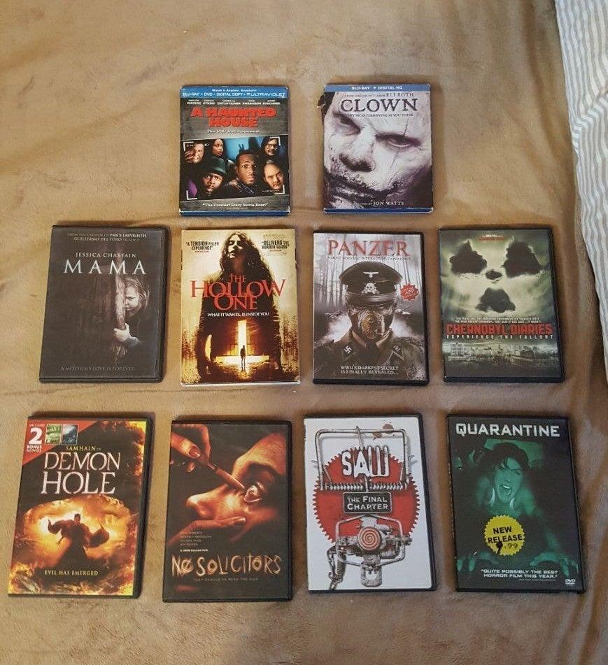 10 Random Horror Movies Dvds