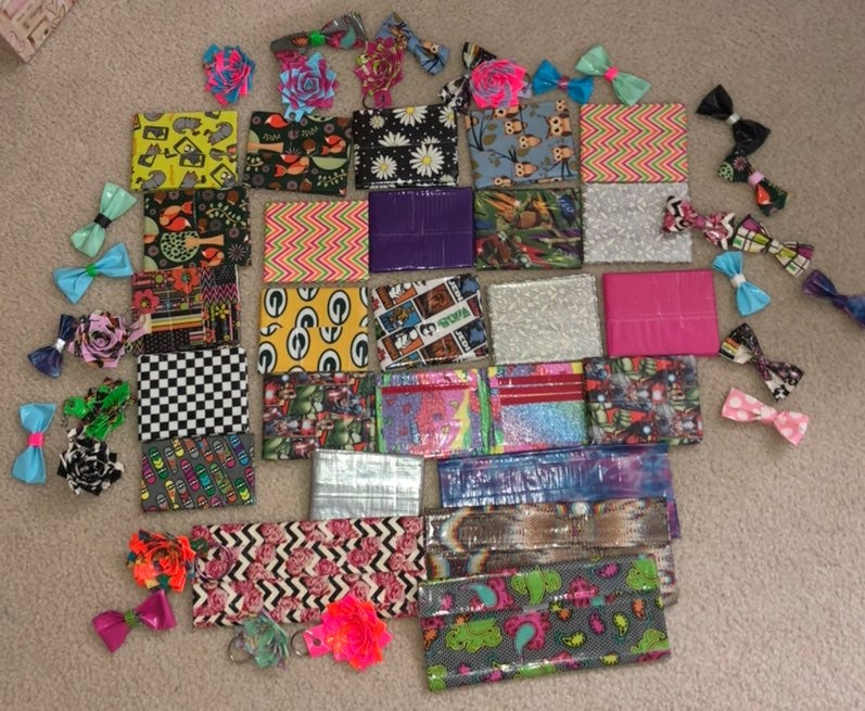 Homeade Duct Tape Wallets