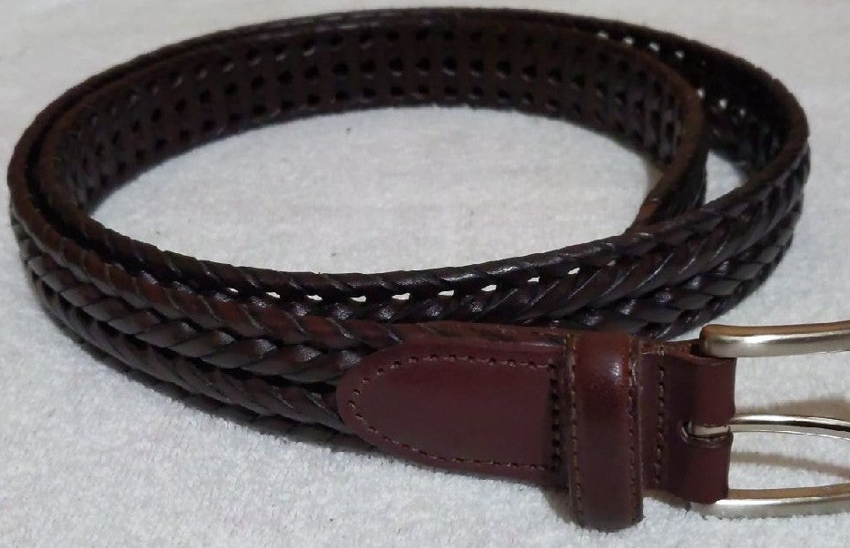 Roundtree & Yorke Men Braided Leather Be