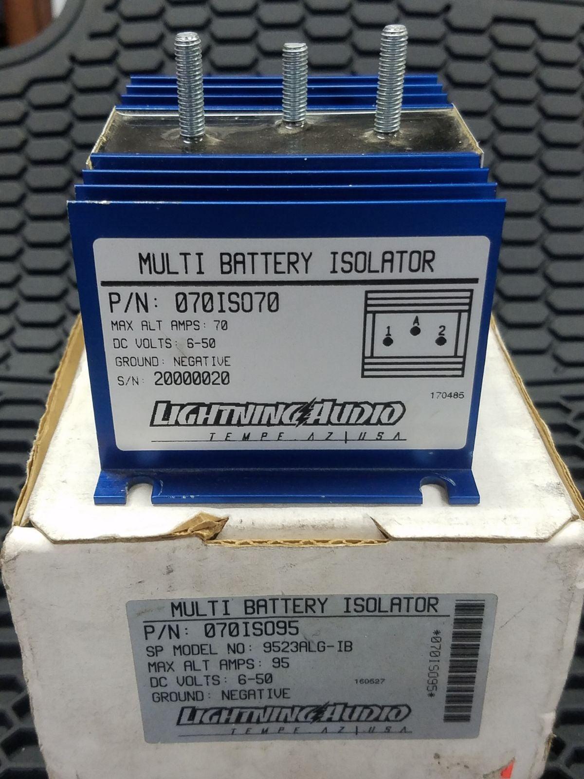 Multi battery isolator