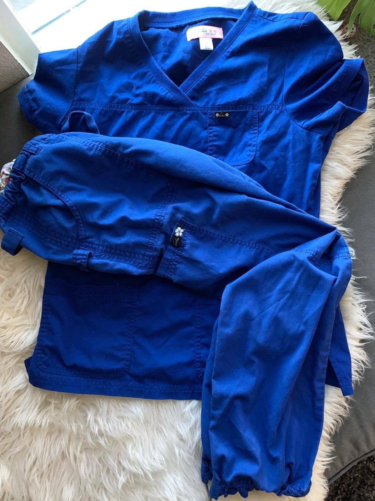 Koi Scrub Set Royal Blue size S