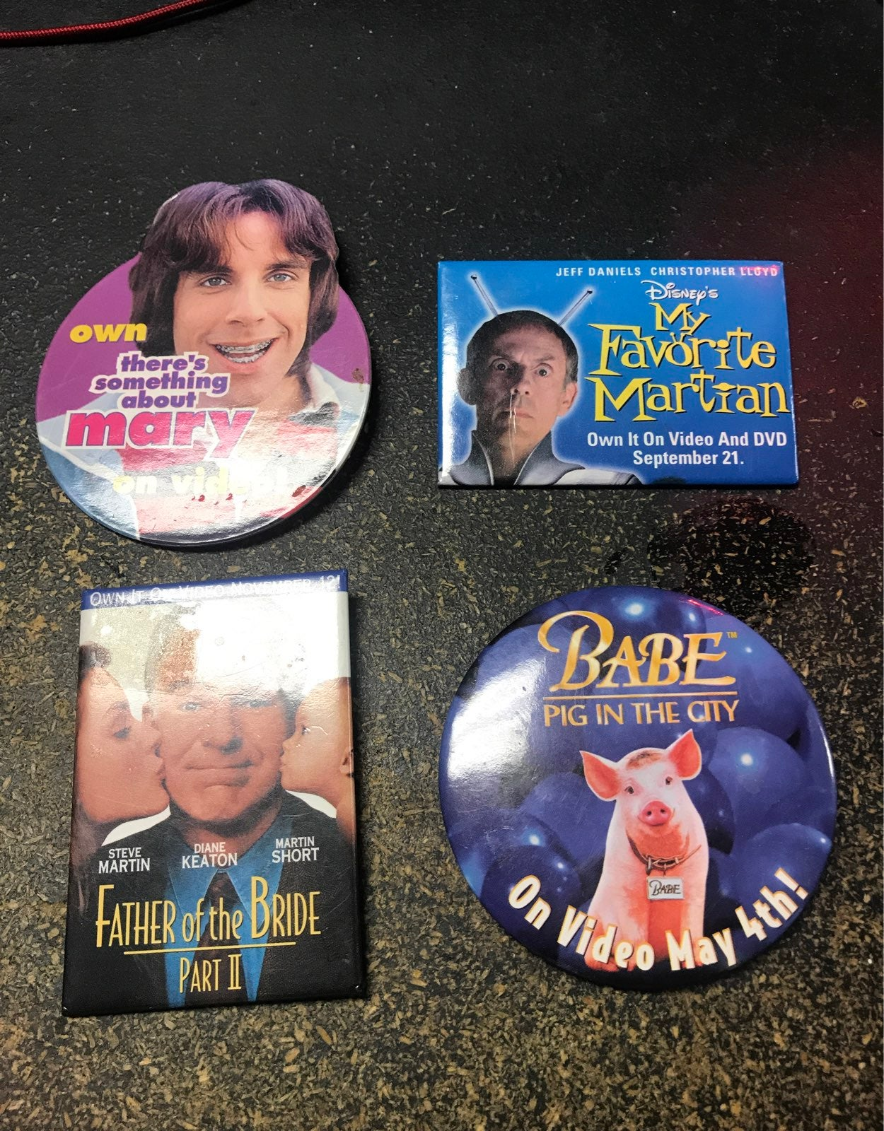Vintage Movie Promo Pins