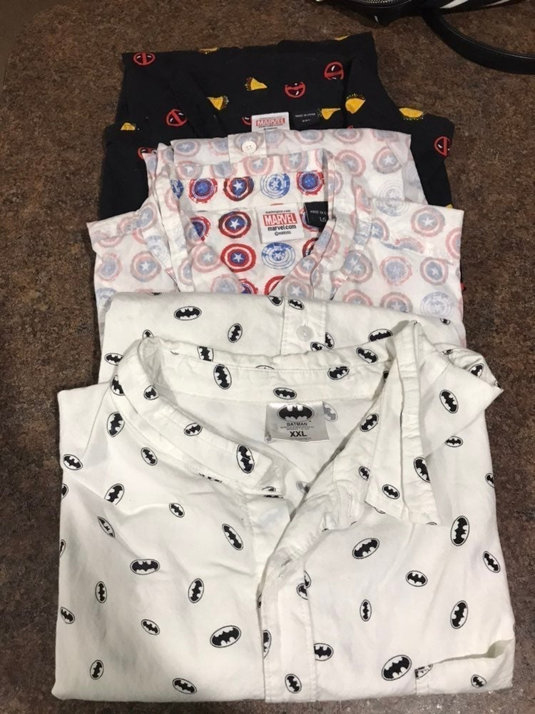 Marvel DC Short Sleeve Button Down